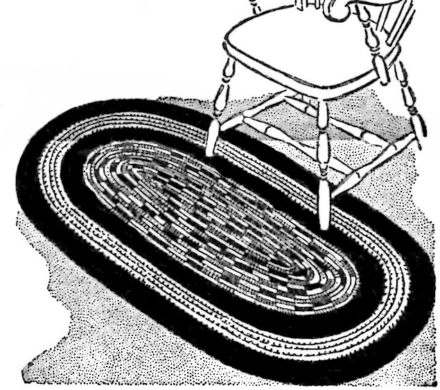 Free Crocheted Cord Oval Rug Instructions Vintage Crafts And More