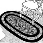 Free Crocheted Cord Oval Rug Instructions