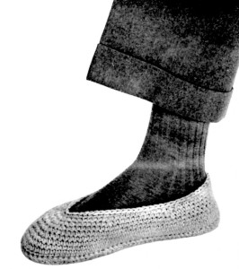 Slippers for Him Crochet Pattern - Vintage Crafts and More