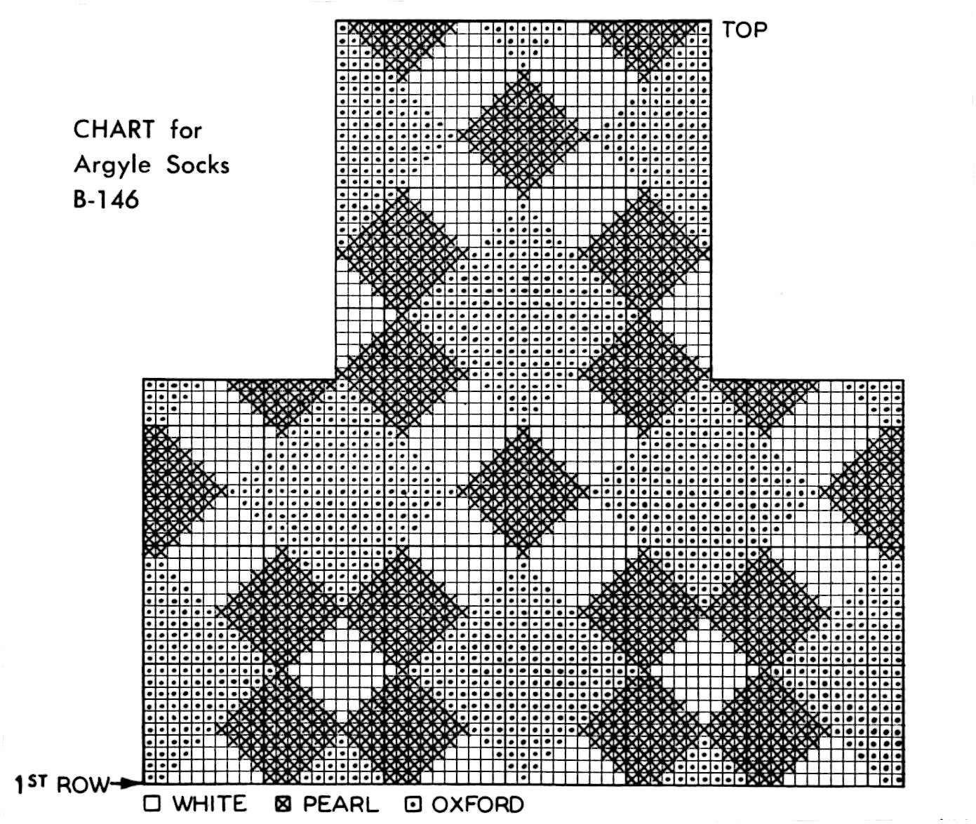 Knit Argyle Pattern : Argyle Socks for Dad - Vintage 2 Needles Knitting Pattern - Vintage Crafts an...
