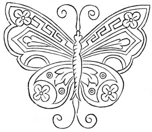 Antique Butterfly Embroidery Pattern - Vintage Crafts and More