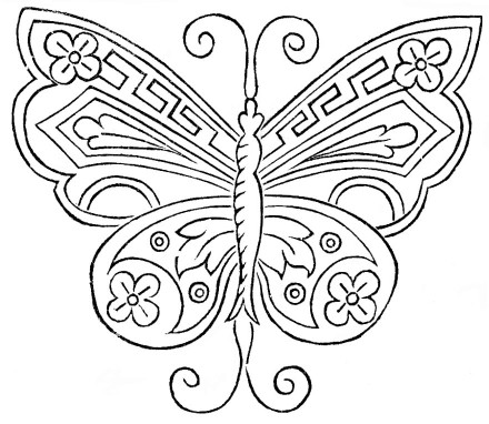 Antique Butterfly Embroidery Pattern - Vintage Crafts and More 440