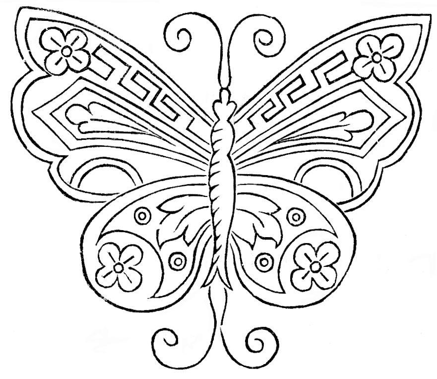 Butterfly Design For Hand Embroidery Vtns Fan Freebie Vintage