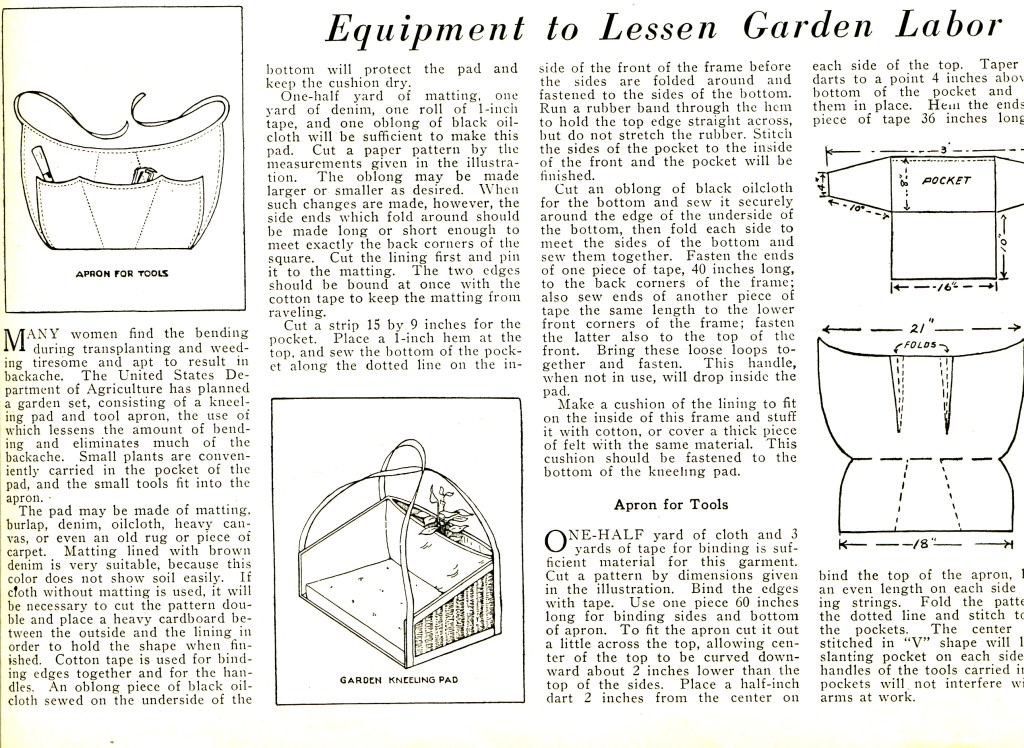 Vintage Crafts and More - Garden Tool Apron Full Article
