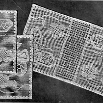 Butterflies in the Garden Filet Crochet Pattern - Vintage Crafts and More