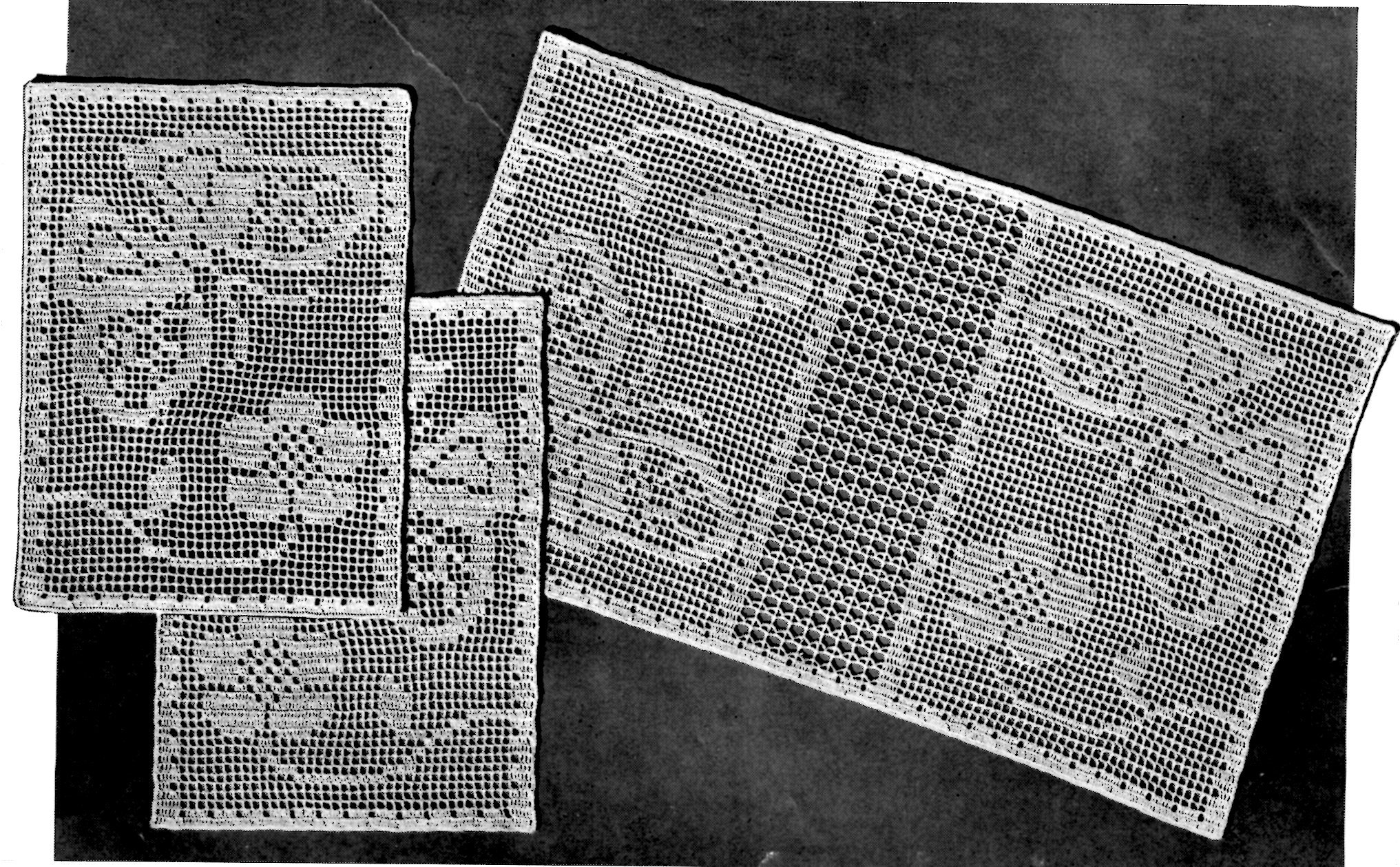 Filet crochet pattern and chart butterflies in the garden butterflies in the garden filet crochet pattern vintage crafts and more dt1010fo