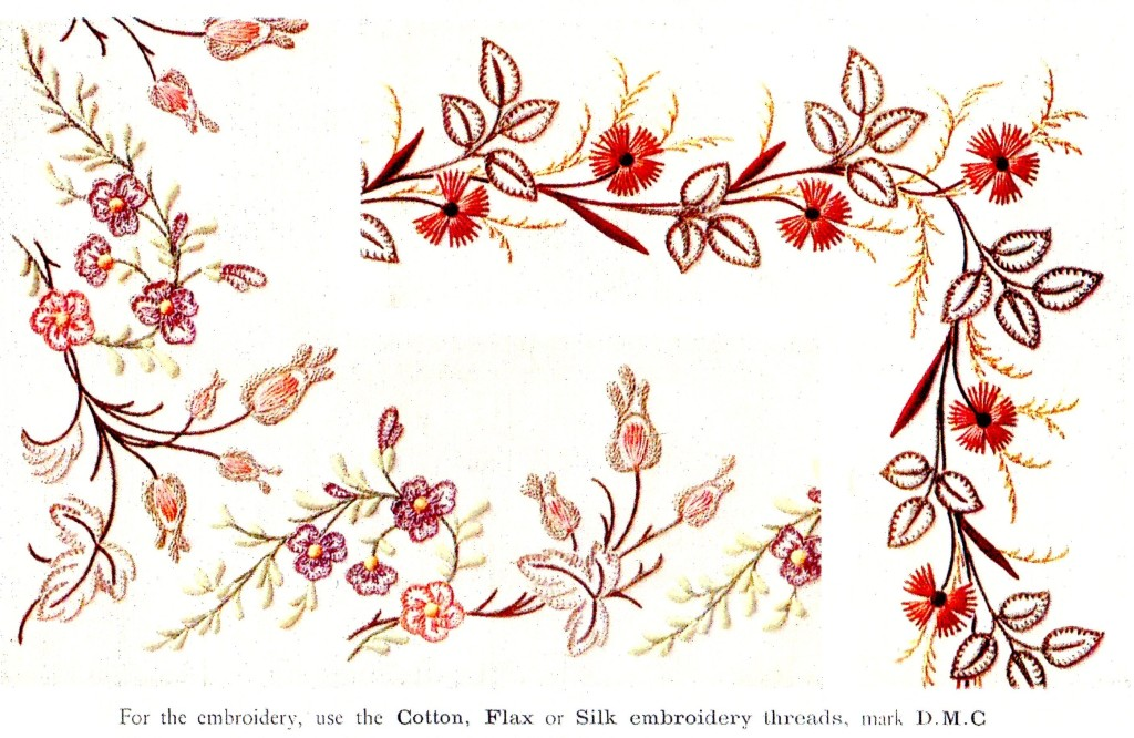 Color Illustration of Finished Antique Embroidery Design