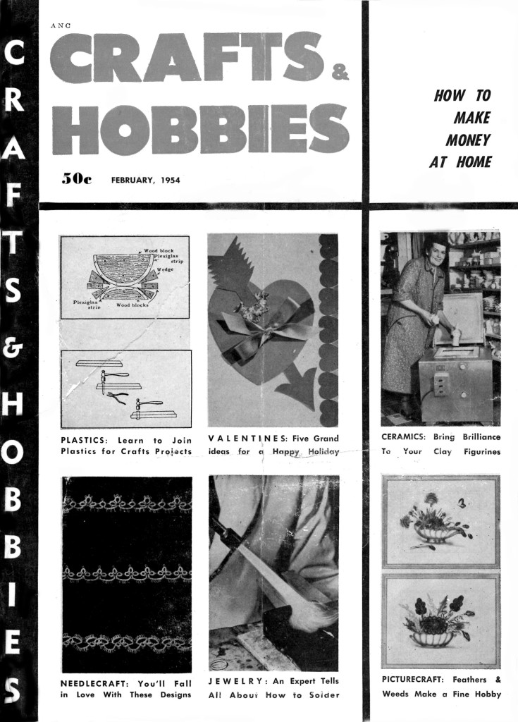 Crafts & Hobbies Magazine 1954 - Vintage Crafts and More