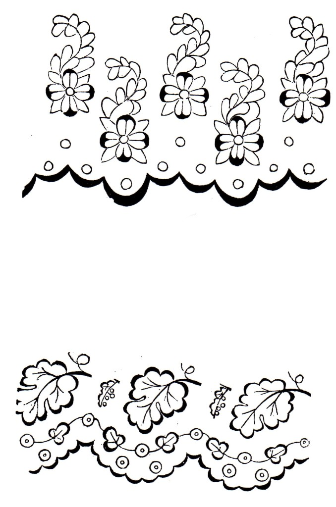 Example Page from 1859 Embroidery Pattern Ebook