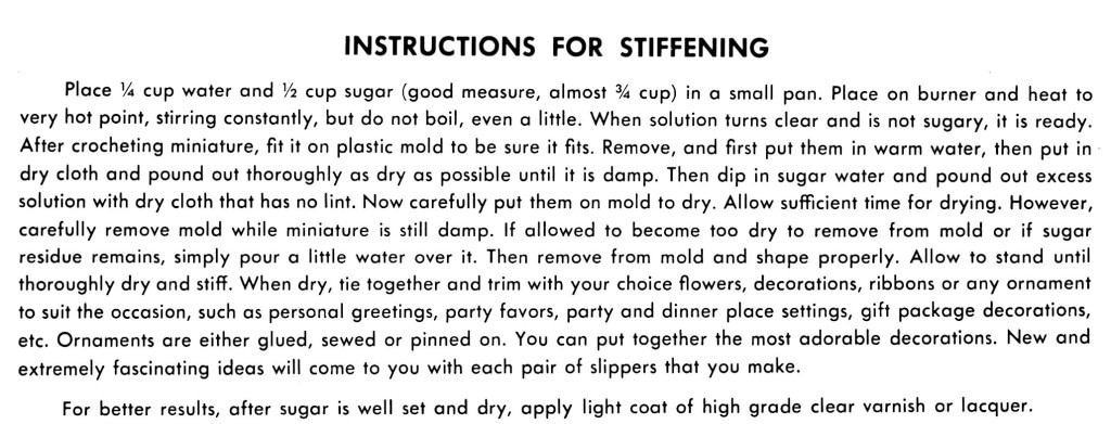 Instructions for Stiffening a Crocheted Item - Vintage Crafts and More