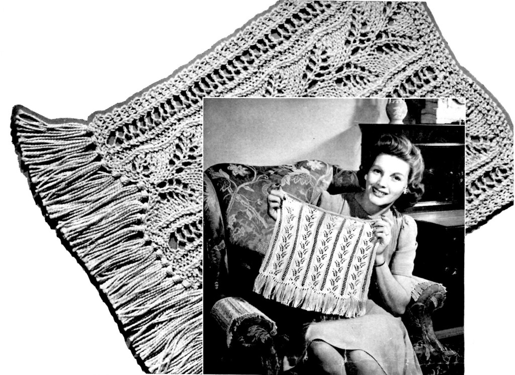 Knitting Chair Back and Arms Pattern - Vintage Crafts and More