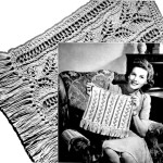 Knitted Chair Back and Arm Pieces Pattern