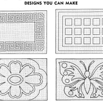 Pom Pon Rugs Designs You Can Make - Vintage Crafts and More