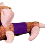 Free Vintage Crochet Pattern for a Toy Dachshund