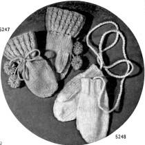 Free Vintage Mitten Knitting Pattern - Vintage Crafts and More