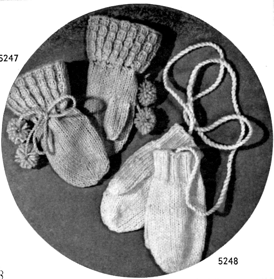 Vintage Baby Mittens Knitting Pattern - Vintage Crafts and More