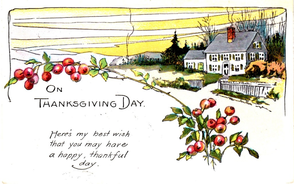 Happy Thanksgiving Antique Post Card - Vintage Crafts and More