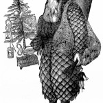 Godey's Lady's Book Pine Cone Craft – Father Christmas