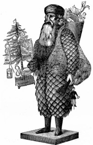 Old Father Christmas made with Pine Cones - Vintage Crafts and More