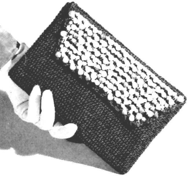 Vintage Crochet Clutch Pattern : find the Dritz Radiant Straw called for in this vintage pattern ...