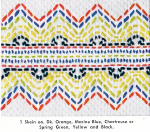 Swedish Embroidery Pattern Zig Zag - Vintage Crafts and More