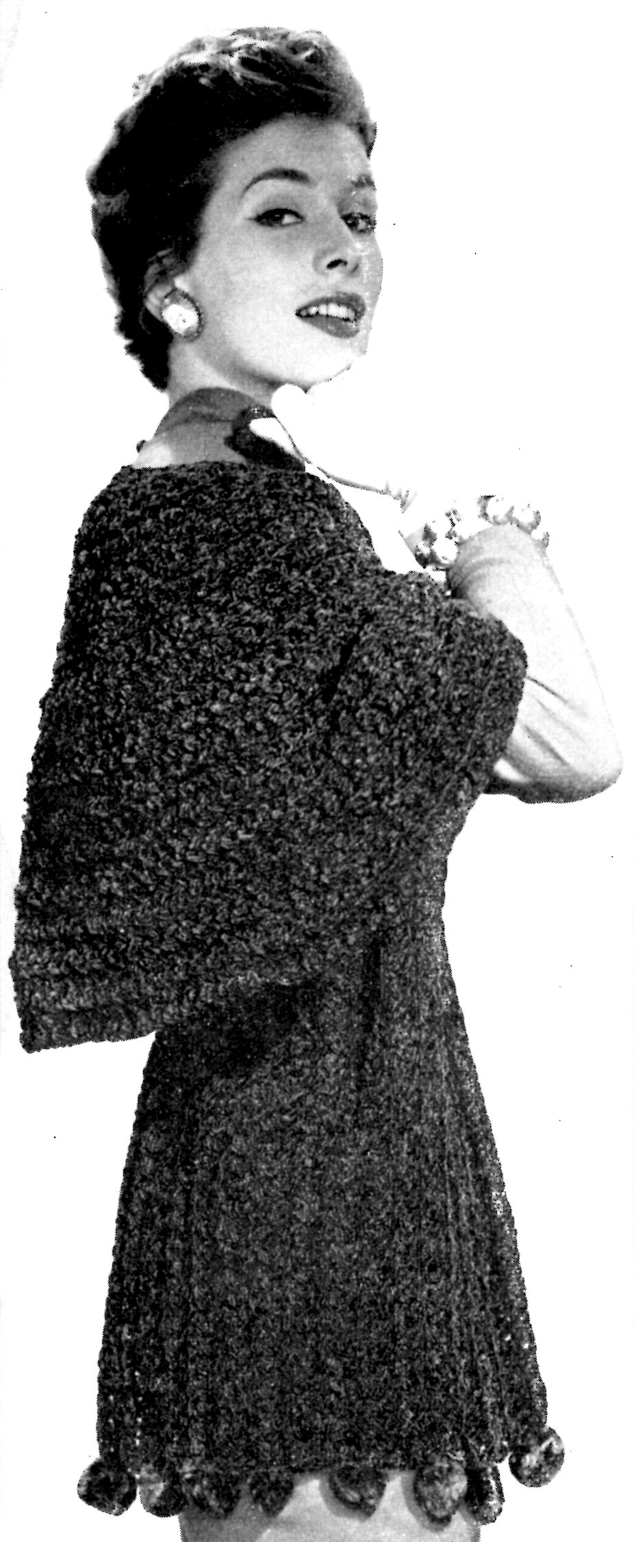 The Velvet Touch Chenille Shawl Crochet Pattern Vintage Crafts And