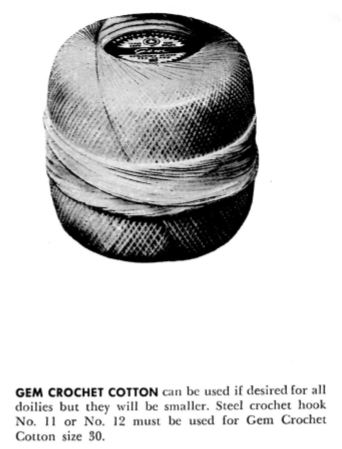 American Thread Gem Crochet Cotton for Vintage Crochet Patterns