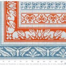 Art Nouveau cross stitch designs