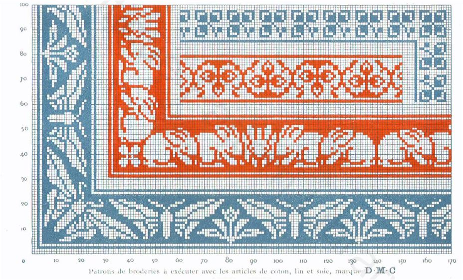 Art Nouveau cross stitch designs