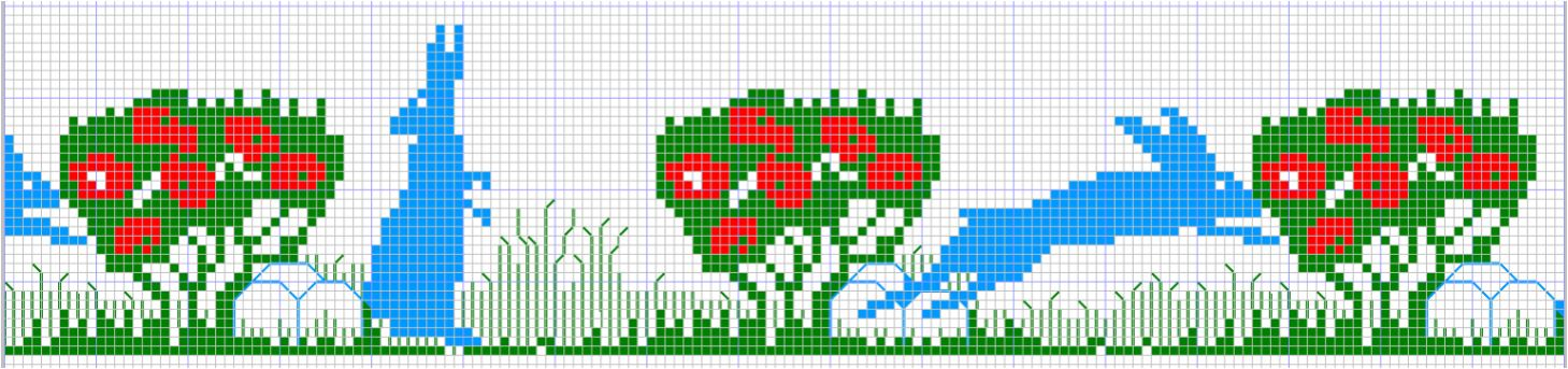 Bunny Rabbit Cross Stitch Pattern