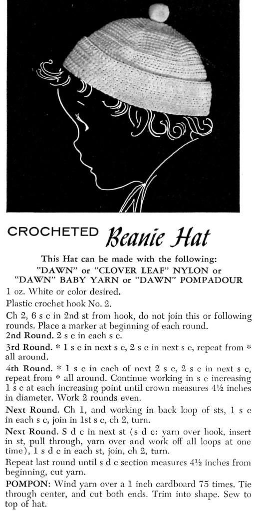 Childs Beanie Hat Crochet Pattern