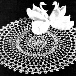 Vintage Tatting Pattern – Swan Round Lace Doily