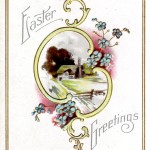 Easter Greetings Antique Postcard