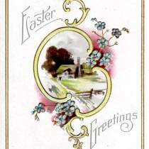 Antique Easter Greetings Postcard - Vintage Crafts and More