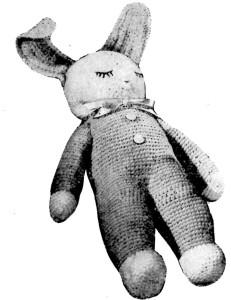 Crocheted Sleeping Bunny Doll Pattern