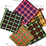 Crochet Patterns Tartan Plaid Placemats and Potholders