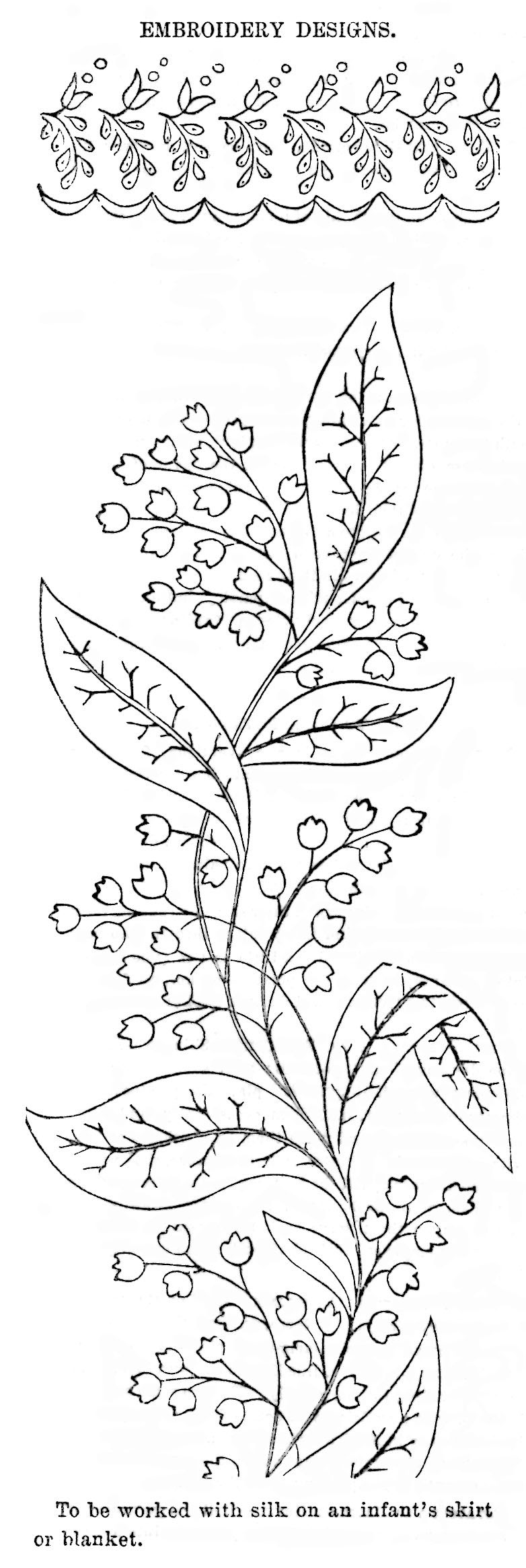 Lily of the valley archives vintage crafts and more lily of the valley embroidery pattern vintage crafts and more izmirmasajfo