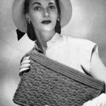 Handbag Crochet Pattern – 1940s Jack Frost Straw Bag