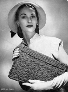 1940s Straw Bag 4814 Crochet Pattern - Vintage Crafts and More