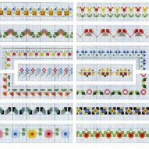 Cross Stitch Flower Border - Vintage Crafts and Mores