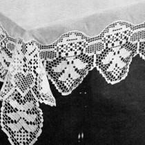Filet Crochet Pattern Lilac Time Tablecloth - Vintage Crafts and More