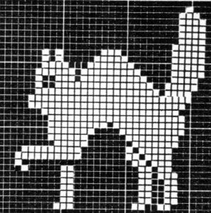 Black Cat Filet Crochet Chart - Vintage Crafts and More