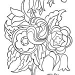 Quilting Flower Design that can be used for Quilts, Embroidery or a Coloring Page
