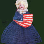 Dolls of Famous Women in History – Betsy Ross Doll Outfit and Flag Crochet Pattern