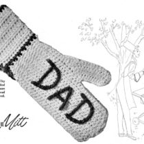 Fathers Day Dad Barbecue Mitt Crochet Pattern - Vintage Crafts and More