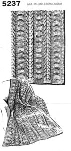 Lacy Knitted Striped Afghan Pattern - Vintage Crafts and More