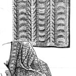 Lacy Striped Knitted Afghan – Free Knitting Pattern