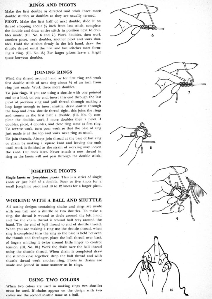 Tatting Instructions Page 2 - Vintage Crafts and More