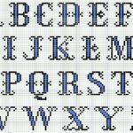 A Counted Cross Stitch Alphabet Chart