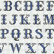 Alphabet cross stitch chart - Vintage Crafts and More
